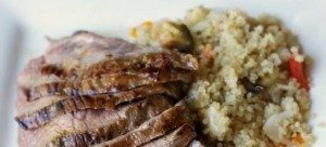 Grilled Lamb With Pomegranate Molasses and Balsamic